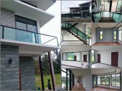 ขายบ้านใหม่มือหนึ่ง ติดทะเลหาดสำราญ จังหวัดตรัง เป็นบ้านพักตากอากาศได้ บ้านเดี่ยว 2ชั้น 84 ตารางวา พร้อมที่ดิน 2ไร่
