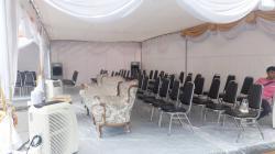 เต็นท์พิษณุโลกให้เช่าเก้าอี้พัดลมไอน้ำไอเย็นแอร์โต๊ะจีนโต๊ะเหลี่ยมโทร085-8125157