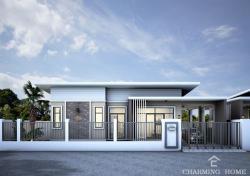 ขายบ้านเดี่ยว 1ชั้น เมืองพิษณุโลก โครงการชามมิ่งโฮม (Charming Home) ตำบล ท่าโพธิ์ อำเภอเมือง