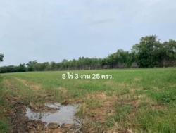ขายที่ดิน นครชัยศรี นครปฐม ทำเลดี 5 ไร่ 3 งาน 25 ตรว. ซอยบ้านสวนรีสอร์ท