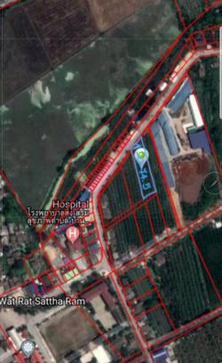 ขายด่วน ที่ดิน ที่สวนชมพู่ ใกล้วัดวังน้ำขาว  ติดถนนทางหลวงชนบทอยู่ในแหล่งชุมชน สามพราน นครปฐม