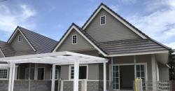 ขายบ้านเดี่ยวชั้นเดียว โครงการใหม่  มือ 1 บ้านกิตติ์วดี ตะพง ระยอง 3 นอน 2 น้ำ หรูหราด้วยหลังคาสูงโปร่งถีง 4.60 เมตร ขนาด 51-61 ตร.ว.