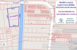 ขายที่ดิน 11-0-60 ไร่ (4,460 ตารางวา) ติดถนนสาธารณะกว้าง 10 เมตร เข้าซอยพหลโยธิน 64
