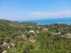 ที่ดินเกาะสมุย อยู่บนเนินภูเขา มองเห็นวิวทะเล เหมาะกับการสร้างบ้านพัก รีสอร์ท หรือบัานพักส่วนตัว