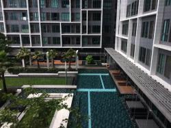 ให้เช่า คอนโดมิเนียม Ideo Mobi Charan Interchange (ไอดีโอ โมบิ จรัญ อินเตอร์เชนจ์) เฟอร์นิเจอร์ครบ พร้อมอยู่ ชั้น7 ห้อง 629 วิวสระว่ายน้ำ