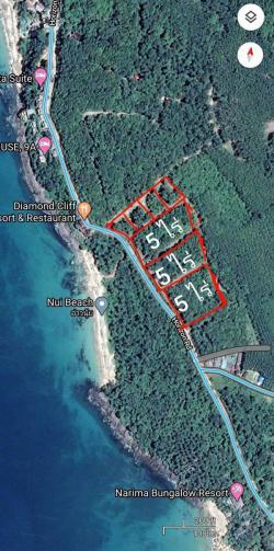 ขายที่ดินเกาะลันตา 15 ไร่ อยู่บนเกาะลันตาใหญ่ มี 3 แปลง ติดหาดนุ้ย