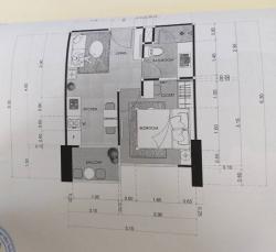 ขายดาวน์คอนโดพัทยา The Riviera Ocean Drive ราคาต่ำกว่าโครงการ  1 ห้องนอน 30.5 ตรม ชั้น 22