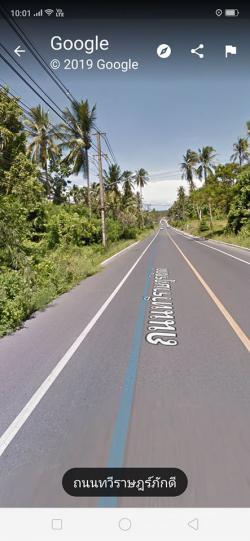 ขายที่ดินติดถนนใหญ่สายรอบเกาะ สมุย ขนาด5ไร่2งาน หน้ากว้าง20เมตรติดถนน(หน้าเมือง)