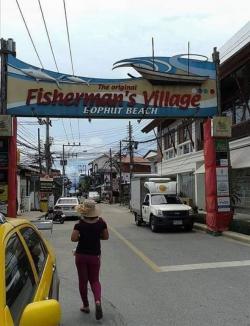 ขายบ้านพร้อมที่ดินบนถนนย่านธุรกิจ Bophut Fisherman Village Koh   Samui หน้าบ้านติดถนนคนเดิน ถนนย่านธุรกิจบนหาดบ่อผุด