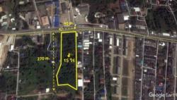 ขายที่ดินสวย เมืองจันทบุรี ตำบลท่าช้าง 15 ไร่ เส้นที่เจริญที่สุด ใกล้โรงพยาบาลพระปกเกล้า