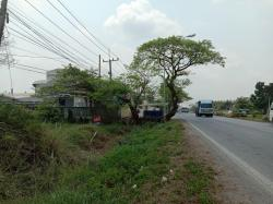ขายด่วน ขายที่ดินเปล่า 15ไร่ ติดถนนหัวลาน - ดอนพุทรา