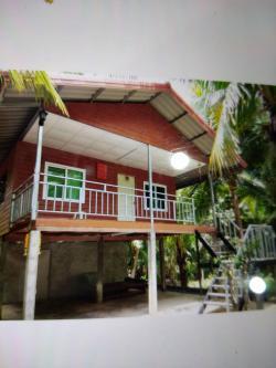 ขายหรือให้เช่าบ้านสวน 2 ชั้น ใกล้ตลาดขลุง จังหวัดจันทบุรี